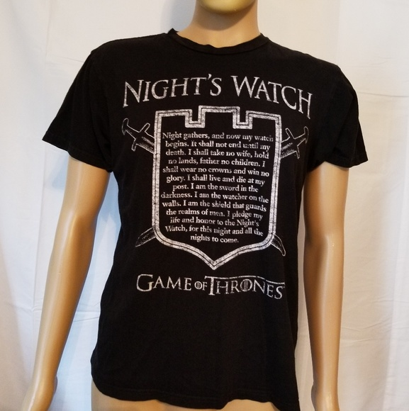 game of thrones Other - The nights watch game of thrones black shirt GOT